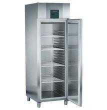 Hűtőszekrény teli ajtóval GN2/1 méretben, 601l, rozsdamentes acél burkolat