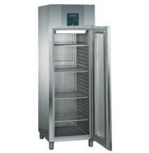 Hűtőszekrény üvegajtóval GN2/1 méretben, 601l, rozsdamentes acél burkolat