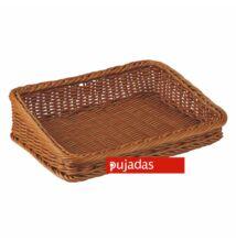 Polirattan kenyérkosár (szögletes,ferde) 40x28cm