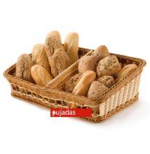 Polirattan kenyérkosár (szögletes,ferde) két részes
