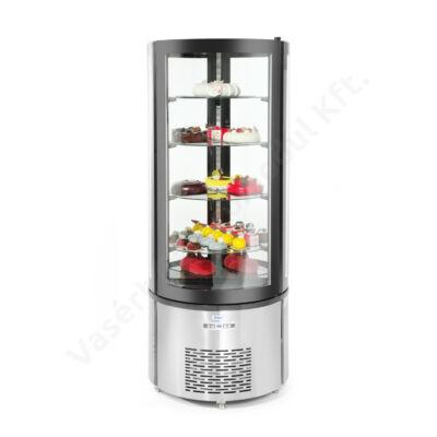 Hendi 233832 Arktic hűtővitrin 360l- 4 üveg polccal