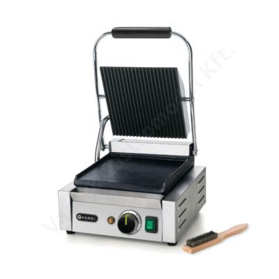 Hendi 263600 kontakt grill, alul sima, felül bordázott felülettel