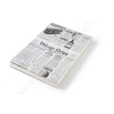 Zsírálló papír újságpapír mintás, sültkrumpli tálaláshoz 25x35 cm