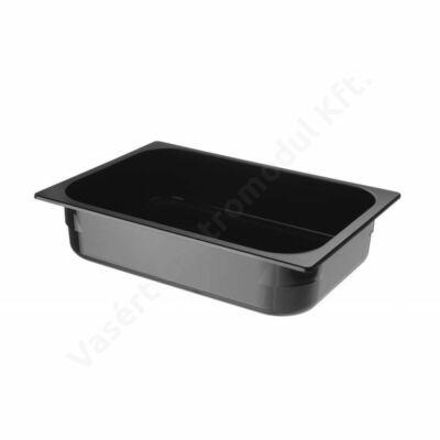 Hendi 807071 polikarbonát fekete színű fagylaltos edény 5l, 360x250x80mm