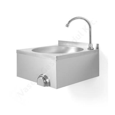 Hendi 810316 rozsdamentes acél mosdó, térddel működtethető