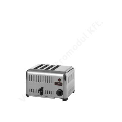 P15.040 Rozsdamentes kenyérpirító 4 aknás 2000 W