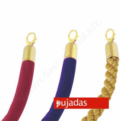 kordonkötél piros, arany színű akasztóval