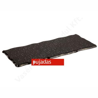 P22.017 Márvány utánzatú fekete téglalap alakú kínálólap