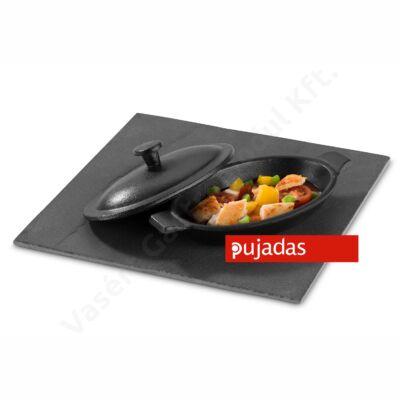 Öntöttvas mini ovális serpenyő fedővel Pujadas P23.506