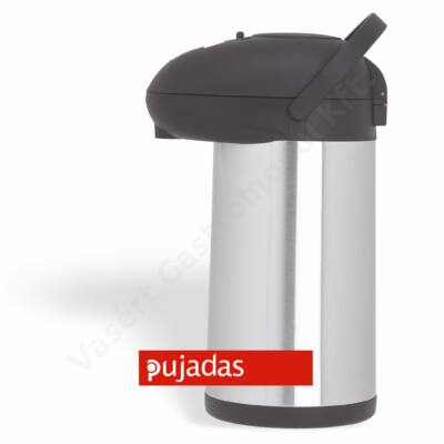 rozsdamentes pumpás termosz