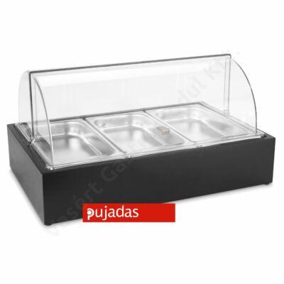 P904.113 CUBIC Asztali vitrin 3 részes fekete