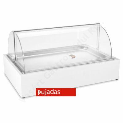 P904.120W CUBIC Asztali vitrin 1 részes fehér