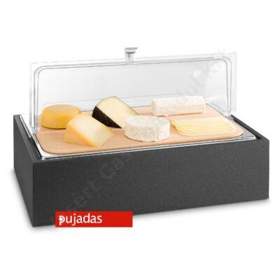 P904.140 CUBIC Asztali sajt vitrin fekete