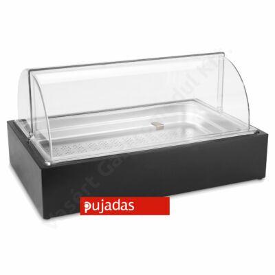 P904.165 CUBIC Asztali vitrin perforált betéttel fekete