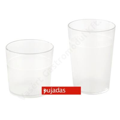 P924.001 Polikarbonát pohár átlátszó 2,5 dl