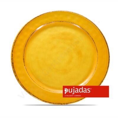 Melamin szervírozó tányér Ø28cm, sárga |Pujadas| P22.833
