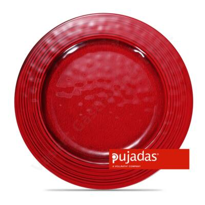 Melamin szervírozó tányér piros Ø28cm  Pujadas P22.845