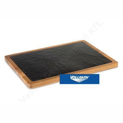 Pala kínálólap akácfa tartóban 33x23cm  Vollrath   P28.600