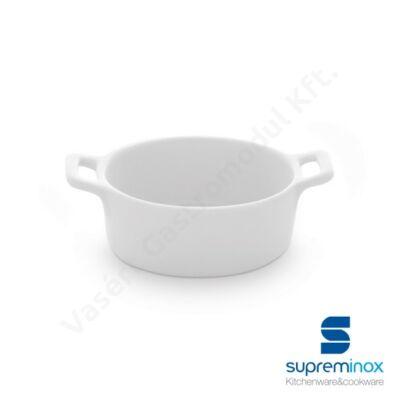 Mini porcelán ovális sütőtál finger food kínálásához  Supreminox  03855