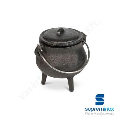 06320 Mini vas bogrács fedővel 7,5x9 cm
