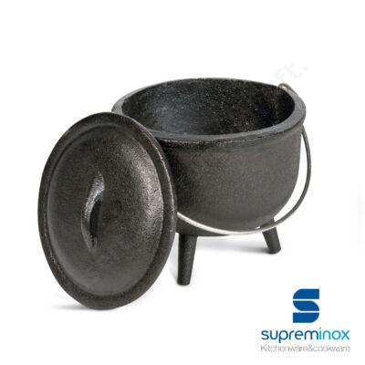 06321 Mini vas bogrács fedővel 11x9,5 cm
