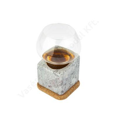 Kőből készült 4 db-os röviditalos készlet Stenkall Brun |Täljsten|T900015