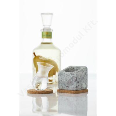 Kőből készült 4 db-os pohárhűtő likőrös készlet Stenkall Vit  Täljsten T900024