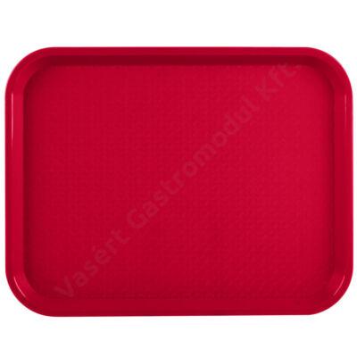86100 Menütálca piros színben, 27x35 cm